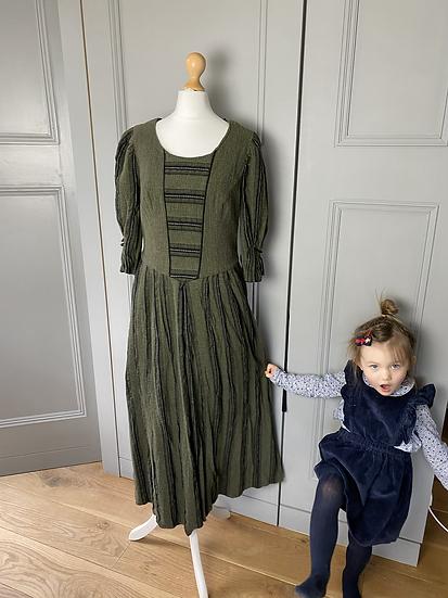 Austrian Drindl dress heavy cotton. UK10/12