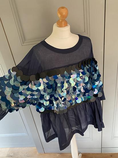 Twinset giant sequin cotton top. AMAZING!!! Uk10-16