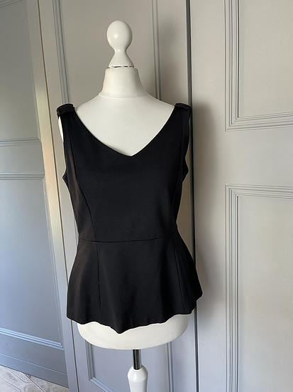Kate Spade NY Black bow vest top UK10