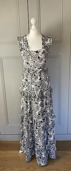 DoDo BarOr black/white layered maxi dress UK12 rrp£525