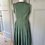 Thumbnail: Max Mara khaki green sun dress with pockets UK 8. Rrp£515
