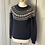 Thumbnail: Jack Wills navy/white wool fair isle jumper UK10/12