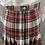 Thumbnail: Vintage wool tartan skirt UK14/16
