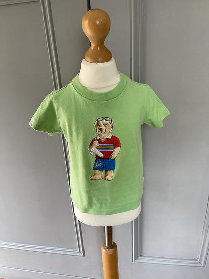 Polo Ralph Lauren green t shirt 12 months
