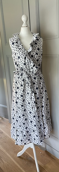 Boden navy and white wrap dress Uk 10/12