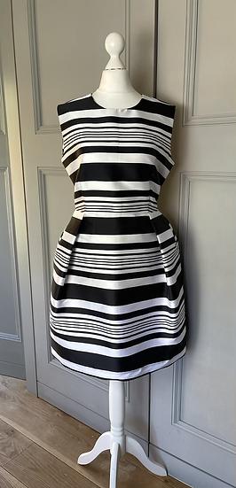 Ink and Iris black/white striped dress Uk12-14