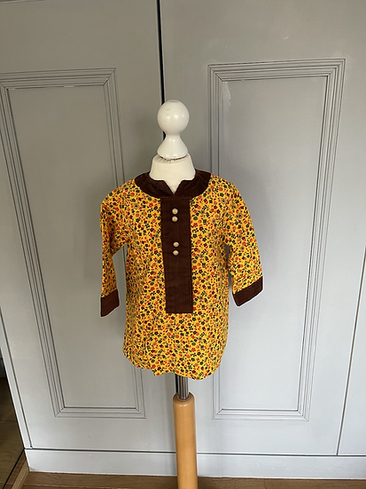 Vintage Yellow/brown dress 18 months