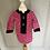 Thumbnail: Vintage pink/navy floral dress 18 months