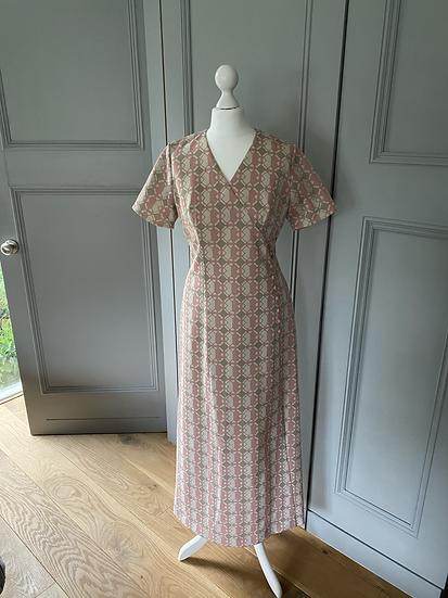 Vintage 60's maxi dress UK10/12/14