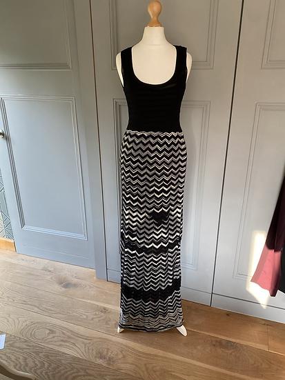 M Missoni black/white stretch maxi dress. Uk8