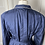 Thumbnail: Vintage Chatlotte Ford navy cotton shirt dress with belt.