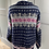 Thumbnail: Vintage Scandinavian style wool navy/purple cardigan (Large)