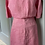Thumbnail: Gerard Darrel pink linen shirt and skirt co-ord set. UK10/12