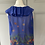 Thumbnail: Ossie Clark blue floral pattern blouse Uk 8 rrp£120