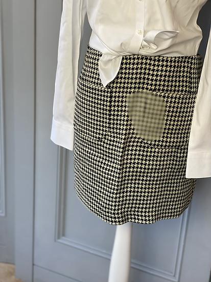 Jigsaw houndstooth black/cream mini skirt. Uk14 rrp£95