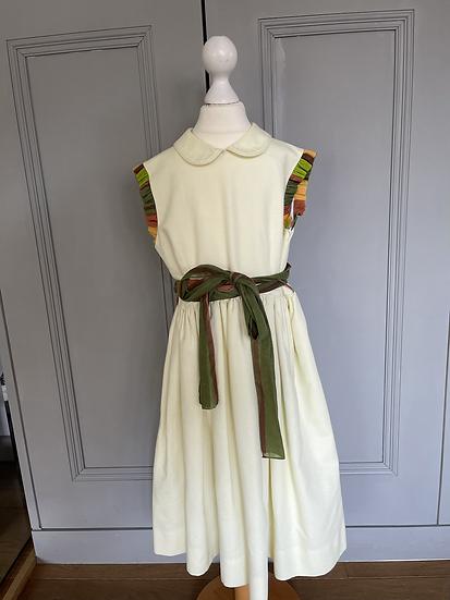 Vintage cream dress age 7