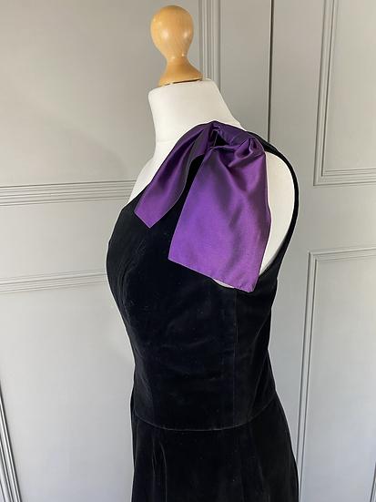 Vintage Radley velvet dress with bow UK10/12
