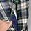 Thumbnail: Vintage tartan reversible wool cape M/L
