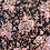 Thumbnail: REDUCED>>>>>>Vintage pretty floral black/pink midi dress (UK8-12)