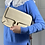 Thumbnail: Chloe cream leather clutch