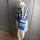 Thumbnail: Vintage wool blue/cream Nordic jumper L/XL