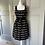 Thumbnail: Fat face black and white midi dress uk 10 rrp £50