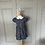 Thumbnail: Girls navy floral Rachel Riley dress age 3