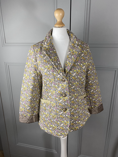 Vintage Liberty quilted country coat UK8/10
