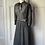 Thumbnail: Vintage black/white belted dress. Uk 10