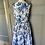 Thumbnail: Monsoon 50s style cotton white/ blue dress Uk12