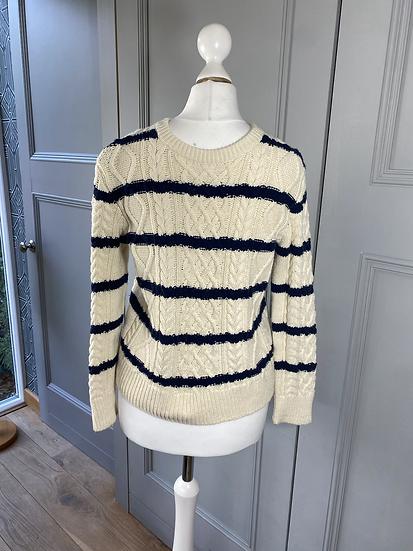 Gap kids navy/cream sweater 10/12yrs uk8-10