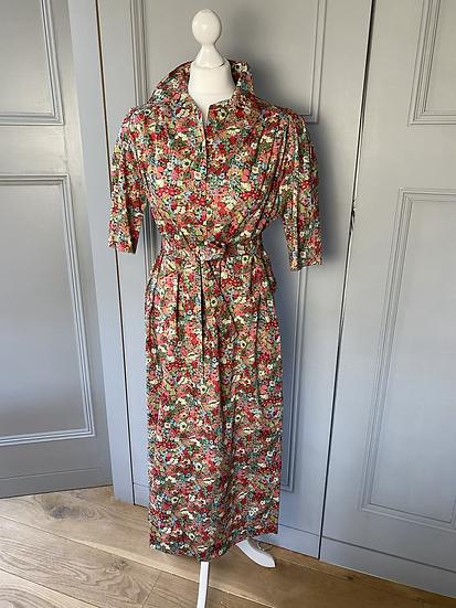 Vintage (NEW) Liberty lawn cotton floral dress. 12-16