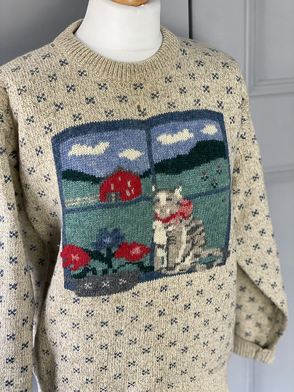 Vintage kitten wool jumper. 12/14