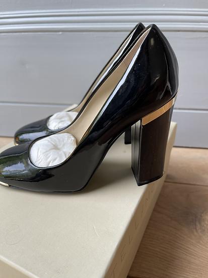 Stella McCartney block black heels size 35
