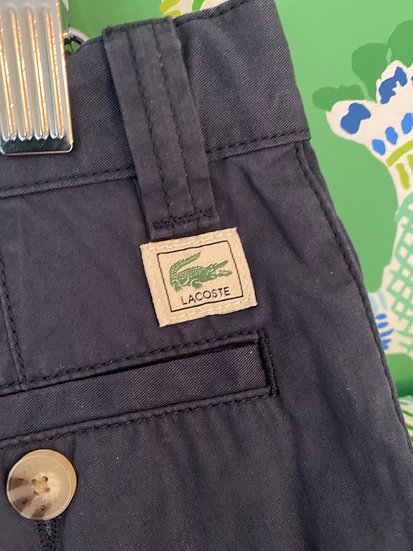 BOYS 5YRS navy Lacoste Chino trousers