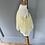 Thumbnail: Vintage Girls yellow/white dress 3mths