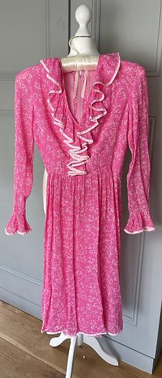 Vintage pink midi dress Uk8