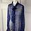 Thumbnail: Jaeger silk sheer blue spot blouse. Uk16
