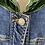 Thumbnail: Monnalisa denim jacket with embroidery 10yrs
