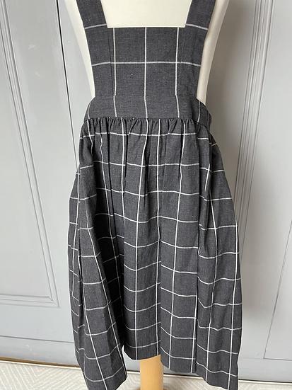 BNWT Bonpoint charcoal grey girls pinnafore dress age 4