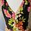 Thumbnail: Vintage Black floral midi dress Uk14