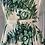 Thumbnail: Vintage 50's cream/green dress with belt UK10/12