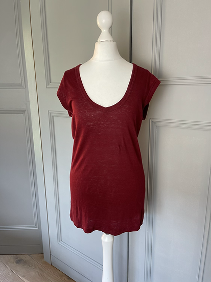 Isabel Marant Etoile red t shirt Uk S rrp£110