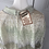Thumbnail: Vintage iridescent mint/cream/metallic dress with bow. UK14/16