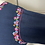 Thumbnail: Navy embroidered cotton top Uk 12/14