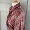 Thumbnail: Vintage red chiffon ruffled dress with metallic thread. Uk10