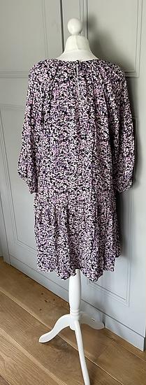 BNWT H&M purple floaty dress UK S