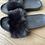 Thumbnail: Ugg black fur sliders Uk 3.5 NEW