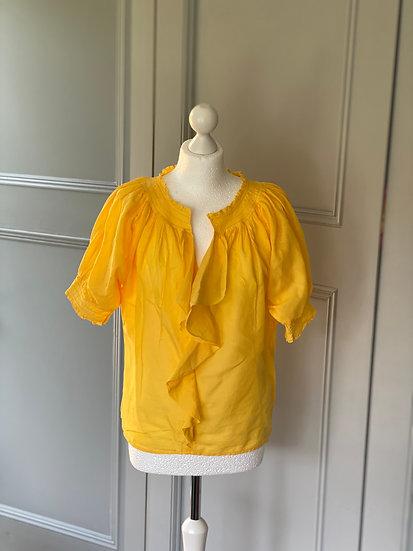 DVF yellow cotton boho top 8/10/12
