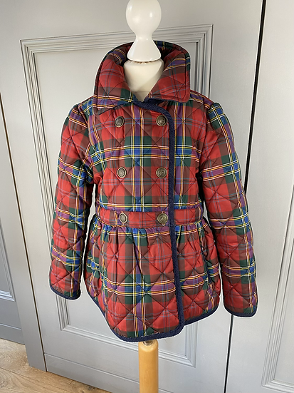 Girls Ralph Lauren quilted tartan jacket 6yrs